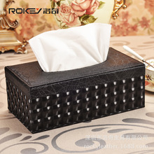 Leather Tissue Box Napkin holder Home Office Car Living Room Cases Cover Container Desktop Table CFXZJH-16(China)