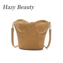 Hazy beauty New faux suede breast design women handbag super chic and funny stylish girl cross body bag attractive lady bagDH823
