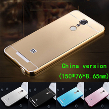 for xiaomi redmi note 3 pro Case Dual Hybrid Slim Acrylic Back Cover Aluminum Metal Frame Bumper for redmi note 3 Phone Cases