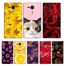 Buy Sony Xperia SP M35H Phone Case Sony Xperia C5302 C5303 C 5303 C5306 Case Luxury Flower Coque Case DIY Pattern Cover for $2.84 in AliExpress store