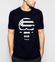 American sniper Chris Kyle Skull Printed Men T-Shirt 2017 Summer Fashion Streetwear Hip Hop T Shirt 100% Cotton Tops Tee S-3XL(China)