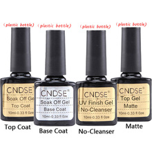 CNDSE Top Coat and Base Coat Arbitrary Choice Nail polish UV Gel 10ML Long lasting Soak Off Matte Top Coat, Base Gel Nail Polish