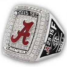 Free shipping 2015 Alabama Crimson Tide SEC Football National Championship Ring Replica men fashion jewelry(China)