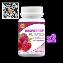 2 bottles Natural Raspberry Ketone PE.,Colon Cleanse fat burner metabolism booster - 100% safe, Free Shipping and duty