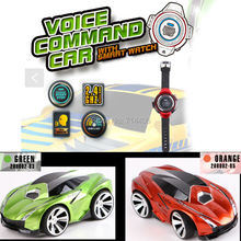 Voice command RC car with smart watch kid's toy mini car,2.4G 6CH radio remote control toys for children best gift(China)