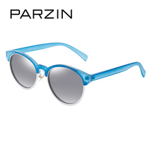 PARZIN Brand Retro Round Frame Polarized Sunglasses Women's Fashion Colorful Eyewear Female 's Driving Glasses Best Gift 9866(China)