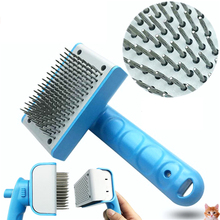 2017 Self Cleaning Comb For Dogs Cat Fur Brush Hair Shedding Hair Tool Detachable Stainless Pet Massag Brush Products For Animal