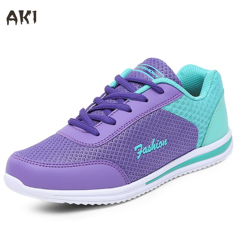 Hot Sales 2017 New Femme Summer Zapato Women  Breathable Mesh Zapatillas Shoes Women Network Soft Casual Shoes Wild Flats Casual<br><br>Aliexpress