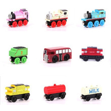 Wooden Railway Train Magnetic Track Model Cars Thomas And Friends Children Kids Wooden Model Train Toy Cars Diecast Brio Avion(China)