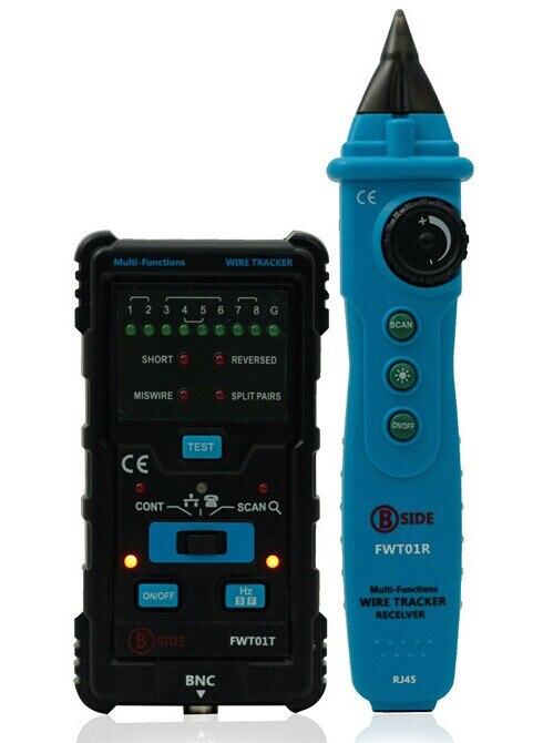 FWT01 Multi-functional Handheld Network Cable Tester LAN Ethernet Wire Tracker Finder Meter Telephone Line Tester<br>