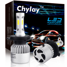 2Pcs H4 LED H7 H11 H1 H3 9005 9006 COB Auto Car Headlight 72W 8000LM High Low Beam Light Automobiles Lamp Xenon white 6500K Bulb