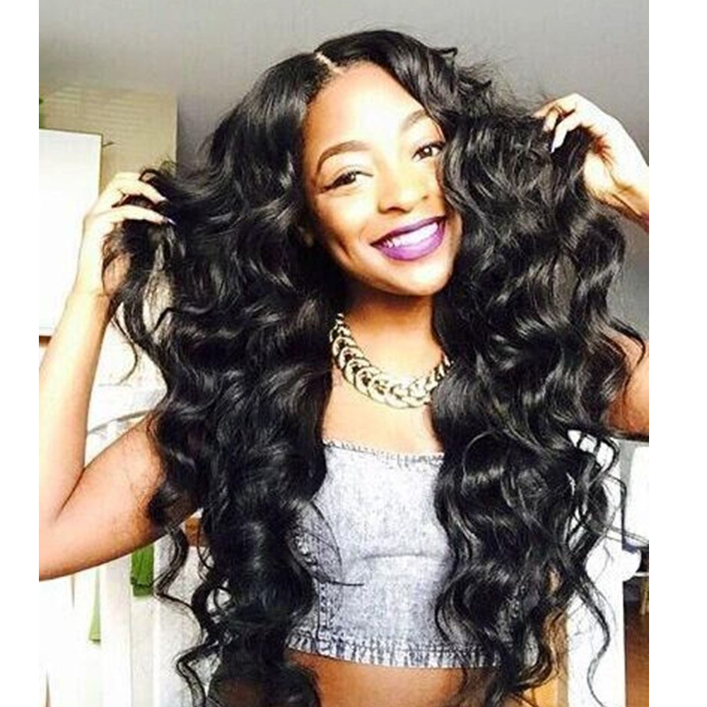 Hot Synthetic Wig Natural Wave Heat Resistant Synthetic Long Wavy Wig Black Synthetic Hair Wigs for Black Women <br><br>Aliexpress