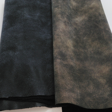 50CM X 68CM High Quality Fabric For Furniture, PU Leather Fabric, Faux Leather Fabric, Synthetic Nubuck Grain Two Tones Vintage