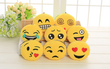 BIG Promotion 8Designs- Emojis 6CM Stuffed Plush TOY DOLL , Kawaii Kid's Gift Plush Decor Toy , Wedding Bouquet Plush Toy DOLL(China)