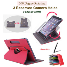 "For PiPO W7/U3T/U9T/U6/T3/S3 Pro/S1/T6/S3Pro/S1Pro 7"" inch 360 Degree Rotating Universal Tablet PU Leather cover case Free Pen"