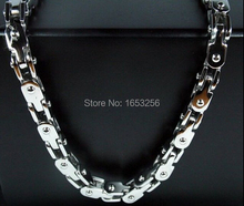 2015 Cool Jewelry 5mm 22'' silver Tone motorcycle biker Chain Necklace Stainless Steel For Women Men's Gifts(China)