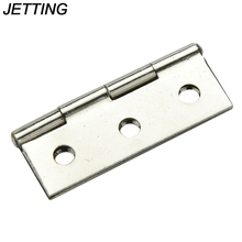 "JETTING 10 Sets Stainless steel Cabinet Door Hinge 6 Holes Boat Marine Cabinet Butt Hinge 2"" With Screws"
