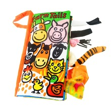 Animal Tails Quiet Cloth Book Baby Education Toys Kids Learning Resources Picture Cognize - Farm Tails