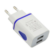 LED USB 2 Port Wall Home Travel AC Charger Adapter For S7 EU Plug MOSUNX Futural Digital MAY1