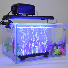 31CM 12 LEDs Aquarium Fish Tank LED Light Air Stone Bubble Submersible Water Underwater Air Curtain LED Lamp Bar Strip Lighting