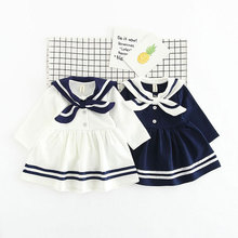 Naval Academy Style Dresses For Newborn Baby Girl Clothes Infant Princess Dress Spring Outerwear Sport Girls Cloth Clothing
