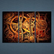 3 Pcs/Set Framed HD Printed Gear Clockwork Fine Watch Picture Wall Art Print Decor Canvas Modern Oil Painting Cuadros Lienzos