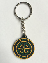Custom Plastic Keychains Compass PVC Keyring Rubber Key Holder Promotional Products Design Logo chaveiros personalizado(China)