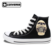 Original Converse All Star Shoes Skull HARD CORE Sneakers Men Brand Chuck Taylors Women Canvas Shoes