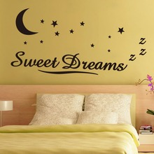 Sweet Dreams star moon home decoration wall decals vinyl wall stickers for bedroom living room decoration