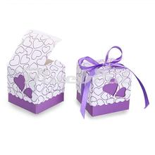 50Pcs Laser Cut Love Heart Shape Paper Favor Box Candy Box Gift Box Sweet Valentine Day Wedding Favor Box Festive Party Supplies