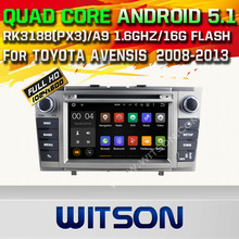 WITSON Android 5.1 Quad Core CAR DVD palyer for TOYOTA AVENSIS  2008-2013 STEREO GPS+1024X600 HD+DVR/WIFI/3G+DSP+RDS+16GB flash