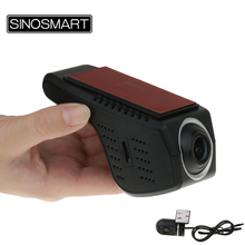 SINOSMART Universal Wifi DVR for Toyota/Mazda/Honda/Mitsubishi/Ford/Citroen Adjustable Angle Control by App Dual Camera Optional