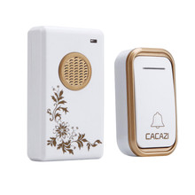 CACAZI High Quality home DoorBell AC 110-220V Waterproof 200m remote Mini Wireless Door bell 38 Rings 3 volume door chime(China)
