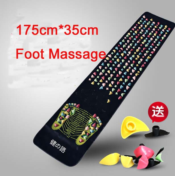 New Reflexology Walk Cobblestone Pain Relief Foot Massager Acupoint Massge Mat Pad Acupressure Gift 175*35cm Relax Pain <br><br>Aliexpress