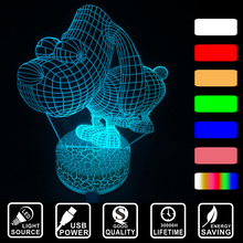 Cute dog shape LED home decoration lighting LED 3D Visual USB Acrylic Colorful changing nightlight table desk lamp IY803680-40