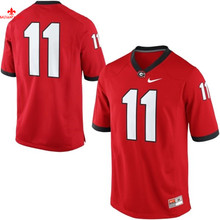 Nike Georgia Bulldogs Aaron Murray 11 College Limited Boxing Jerseys - Red Size M,L,XL,2XL,3XL(China)