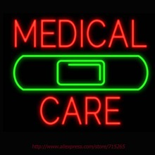 Neon Sign Medical Care Band Aid Real Glass Tube Handcrafted neon signs Custom LOGO Recreation BUSINESS Display ADVERTISE 31X24(China)