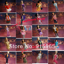 2014 discount New arrival wholesales 50pieces cloth(dress) with retail bag for 1/6 bjd Doll Fashion Clothes Suit For barbie doll