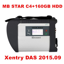 Best A+ Quality MB Star C4 SD Connect Star Diagnosis+ Xentry DAS 2015.09 Compact 4 Multiplexer For Mercedes Benz Diagnostic Tool