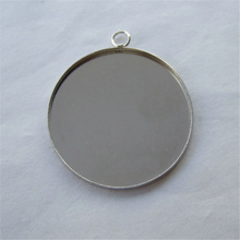 5pcs 35mm Iron Round Pendant Trays Blank Bezel Pendant Bases For Caoochon Bezel Jewelry Findings