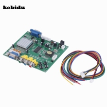 kebidu New Digital 24-bit RGB CGA EGA YUV to VGA Video Converter Board Moudle HD9800 GBS8200 Supports All Types of VGA Monitors(China)
