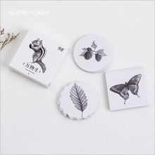 45Pcs/Pack Nature Animals Flower Plants Collection Decoration Lable Stickers DIY Diary Planner Album Scrapbooking Craft Stickers