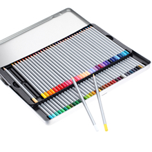 Hot Sale Fine 72 Colored/set Artist Drawing Pencils Metal Tin Set Sketch Art Sets Painting Supplies(China)