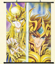 Saint Seiya Pegasus Seiya Cygnus Hyoga Wall Poster Scroll Home Decor Japanese(China)