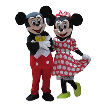 2017 New Mouse Mascot Costume Minnie Mouse Costume Mouse Costumes 2pcs Free Shipping
