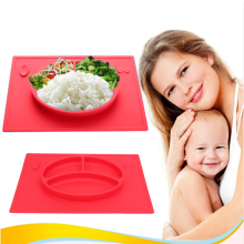 Hot Baby Silicone Smile Face Feeding Plate Food Grade Silicone Dinner Placemat Child Table Mat Pad Tableware Set Kitchen Kid(China)