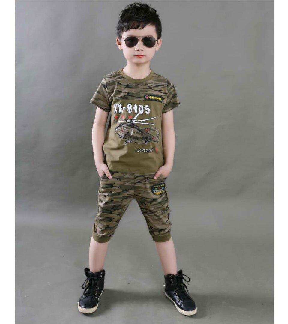 PDD004 Baby Boys Clothes 2018 Summer Baby Boys Clothing Sets T Shirt + Short Pants 2Pcs Boys Outfit Suit Kids Infant Clothes