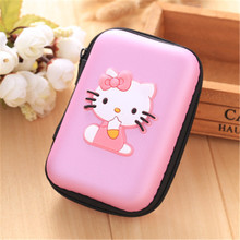 Cellphone Accessories Cartoon Portable Carry Case Wire Charger Cable Box Earphone Box Headphones Storage Case Bag