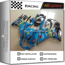Excellent Painting Job For Suzuki Motorcycle ABS Fairings GSX-R600 750 K10 2011 2012 2013 Motorcycle Cowling BLUE RIZLA