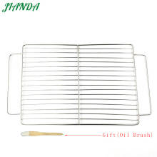 JIANDA (Send a Gift)Stainless Steel Double Handle Wire Steaming Barbecue Rack BBQ Grill Mesh Oven Net Carbon Grill(China)